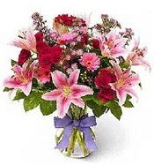 Vazo içerisinde karışık mevsim çiçeği  Tunceli çiçek yolla
