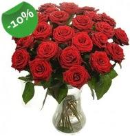 Vazo içerisinde 25 adet kırmızı gül  Tunceli hediye çiçek yolla