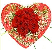 Mika kalp içerisinde 7 adet kırmızı gül  Tunceli çiçek gönderme sitemiz güvenlidir