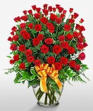 Görsel vazo içerisinde 101 adet gül  Tunceli hediye çiçek yolla