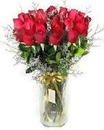 27 adet vazo içerisinde kırmızı gül  Tunceli çiçek online çiçek siparişi