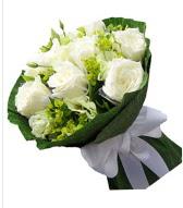 9 adet beyaz gül buketi  Tunceli çiçek yolla