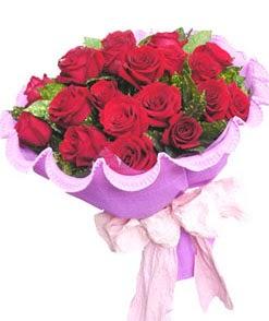 12 adet kırmızı gülden görsel buket  Tunceli çiçek gönderme sitemiz güvenlidir