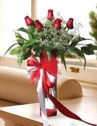 Camda 5 kırmızı gül tanzimi  Tunceli güvenli kaliteli hızlı çiçek
