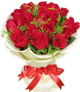 19 adet kırmızı gülden buket tanzimi  Tunceli online çiçek gönderme sipariş