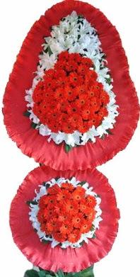 Tunceli ucuz çiçek gönder  Çift katlı kaliteli düğün açılış sepeti