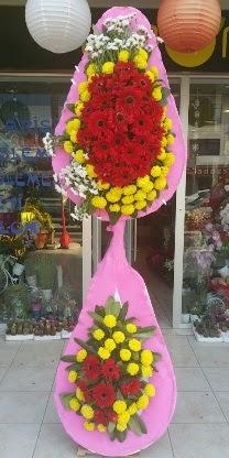 Çift katlı düğün nikah açılış çiçek modeli  Tunceli çiçekçi telefonları