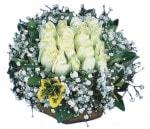 Tunceli çiçekçi telefonları  Beyaz harika bir gül sepeti