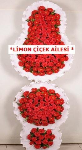 3 katlı kırmızı düğün açılış çiçeği  Tunceli kaliteli taze ve ucuz çiçekler