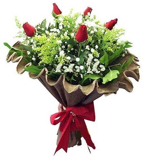 5 adet gülden buket  Tunceli çiçek servisi , çiçekçi adresleri