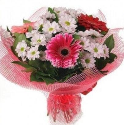 Gerbera ve kır çiçekleri buketi  Tunceli çiçek satışı