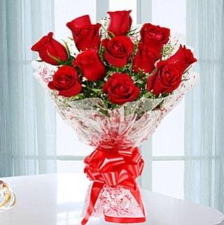 11 adet kırmızı gülden görsel şık buket  Tunceli çiçek yolla , çiçek gönder , çiçekçi