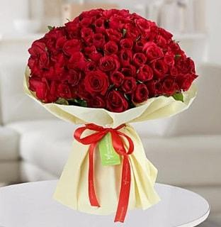 101 adet kırmızı gül buketi koca demet  Tunceli çiçek satışı