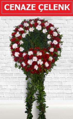Kırmızı Beyaz Çelenk Cenaze çiçeği  Tunceli çiçek online çiçek siparişi