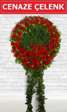 Kırmızı Çelenk Cenaze çiçeği  Tunceli çiçek online çiçek siparişi