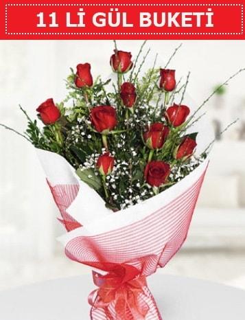 11 adet kırmızı gül buketi Aşk budur  Tunceli çiçek servisi , çiçekçi adresleri