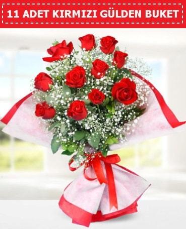 11 Adet Kırmızı Gül Buketi  Tunceli çiçek satışı