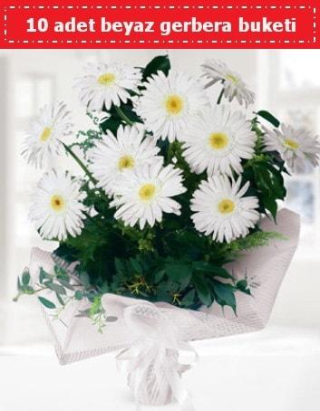 10 Adet beyaz gerbera buketi  Tunceli online çiçekçi , çiçek siparişi