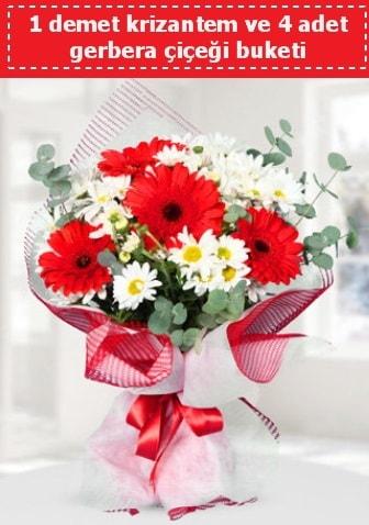 Krizantem ve Gerbera Buketi  Tunceli çiçek yolla