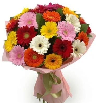Karışık büyük boy gerbera çiçek buketi  Tunceli yurtiçi ve yurtdışı çiçek siparişi