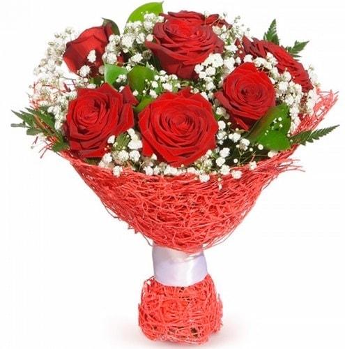 7 adet kırmızı gül buketi  Tunceli çiçekçi telefonları